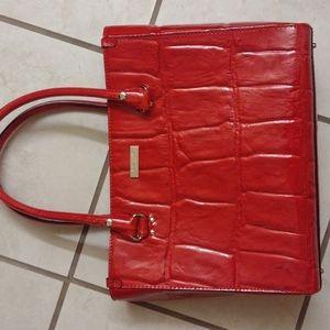 Kate Spade red patent genuine leather handbag
